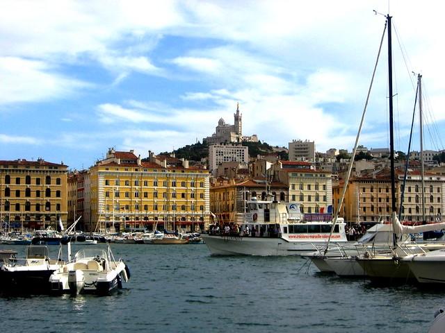 Marseille le vieux port et notre dame de la garde flickr - Pharmacie de garde marseille vieux port ...