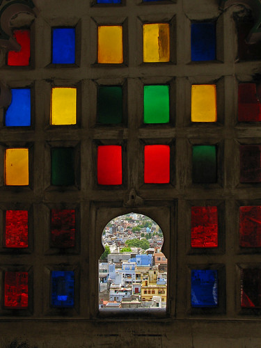 India - Colours of India - 012 - Looking through Udaipur Palace's stained glass windows | by mckaysavage