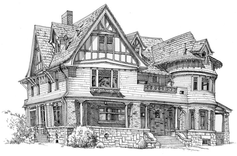 Story Mansion Bozeman Montana This Was Done On Site On