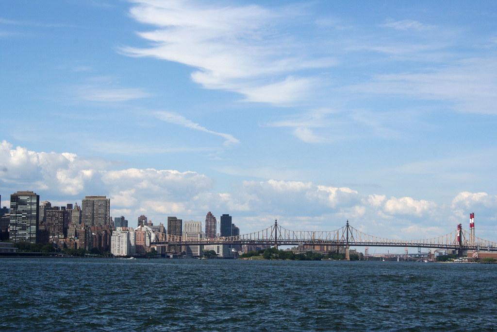 blue skies and bridges