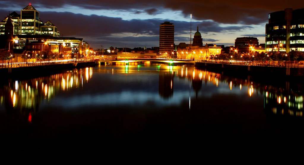 Dublin City at Night Dublin City Ireland | by