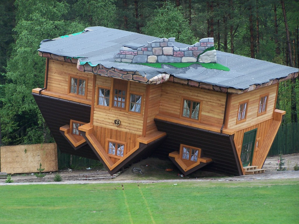 House Upside Down Poland Szymbark Near Gda Sk Danmar