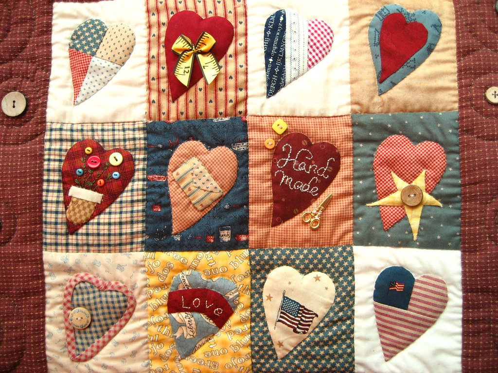 Country Love patchwork wall hanging  This is my beginner ...