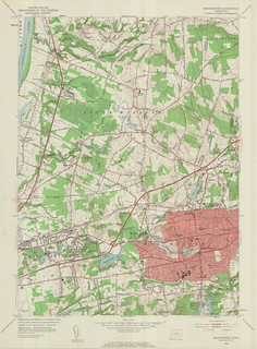 Manchester Quadrangle 1952 - USGS Topographic Map 1:24,000 | by uconnlibrariesmagic
