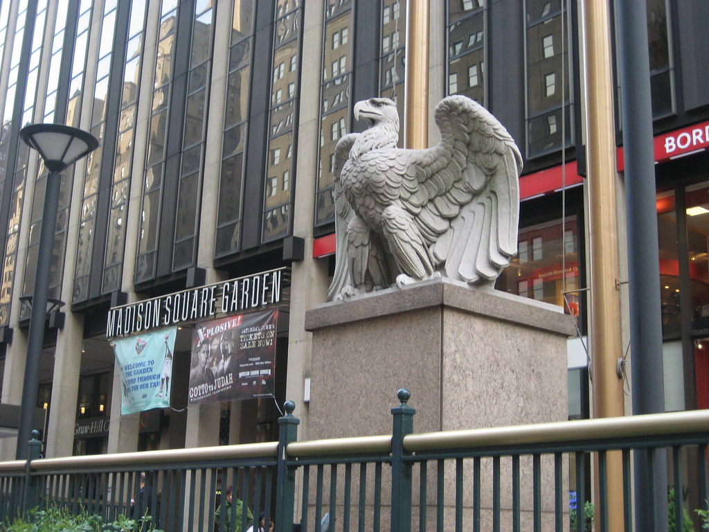 Nyc madison square garden penn station eagle two of - How old is madison square garden ...