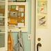cork board + back door