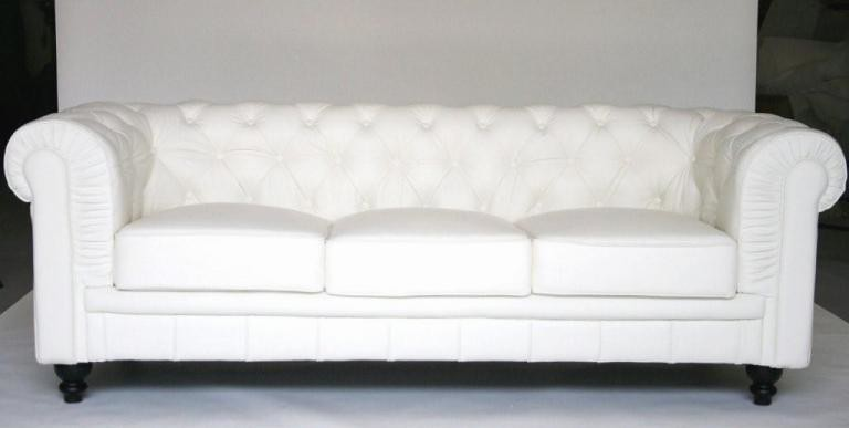 White Leather Modern Chesterfield Style Sofa drey Flickr