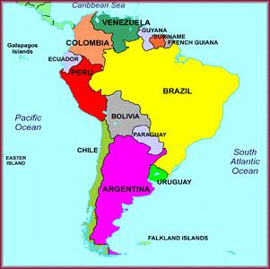 Mapa Am 233 Rica Del Sur Mapa Am 233 Rica Do Sul South America M