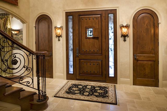 Front entry with jeld wen custom fiberglass door flickr for Jeld wen exterior fiberglass doors
