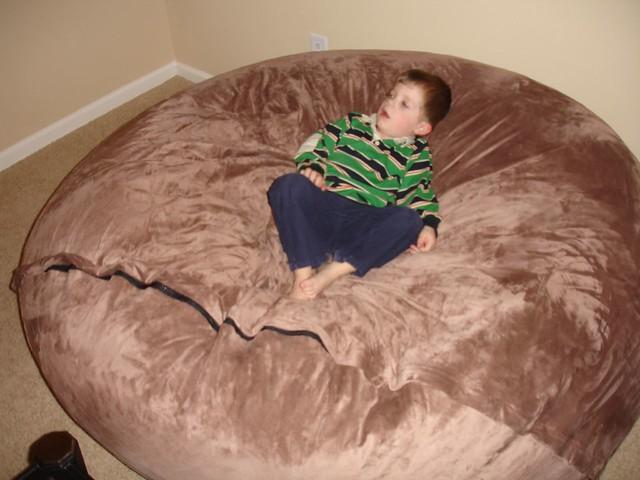 ... Huge Bean Bag Chair LoveSac Love Sac Comfy Sack Fombag | By ComfySacks