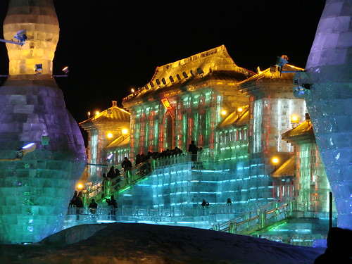 Ice Sculpture at the Ice and Snow Festival in Harbin, China in February 2007 | by m j c