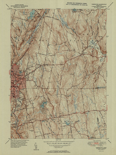Torrington Quadrangle 1951 - USGS Topographic Map 1:31,680 | by uconnlibrariesmagic