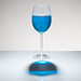 Playing with food color - single glass