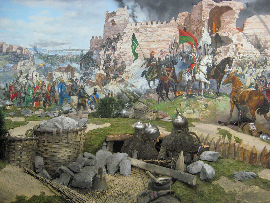 Mural The Fall Of Constantinople Stamboulczar Flickr