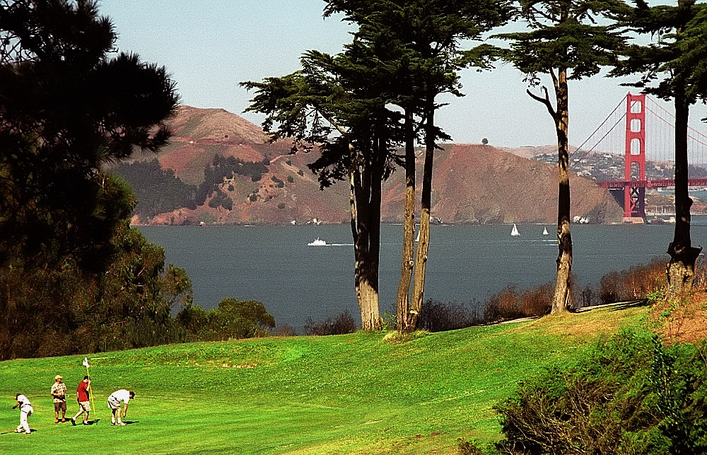 New Golf R >> San Francisco - Golden Gate Bridge from the Lincoln Park G ...