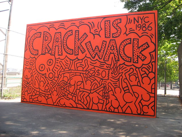 Keith haring crack is wack mural flickr photo sharing for Crack is wack mural