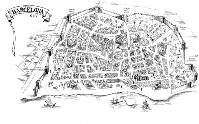 mapa da cidade de barcelona Mapa da Cidade de Barcelona   A Igreja de Santa Maria do Mar…   Flickr mapa da cidade de barcelona