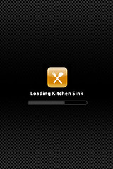 "iPhone - ""Loading Kitchen Sink"""