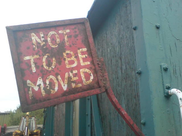 not to be moved