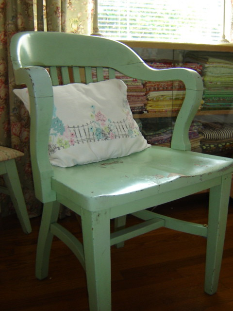Mint Green Library Chair I Found This Mint Green Distresse Flickr