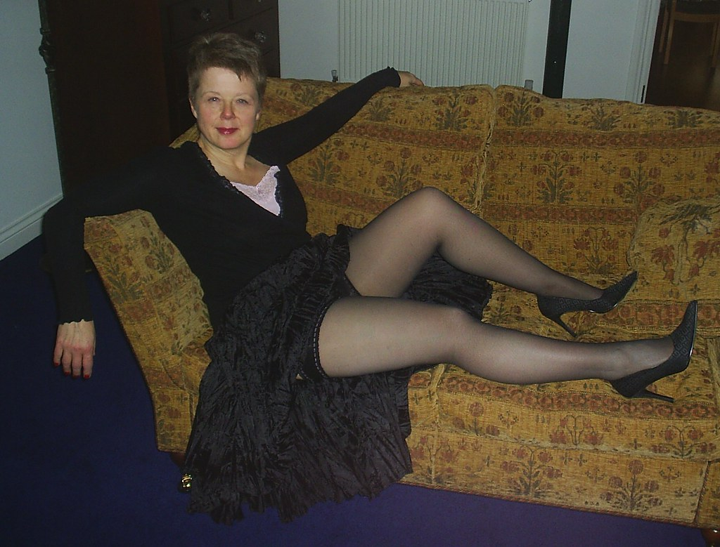 pantyhose Mature legs in