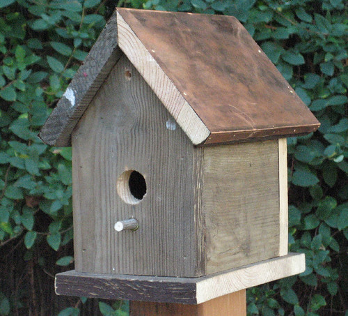 Recycled Wood Rustic Bird House 100 Recycled Wood Bird