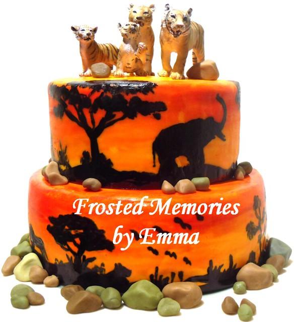 Safari / Zoo Birthday Cake