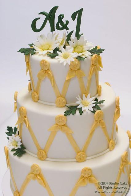 Fleur De Lis Wedding Cake Www Studiocake Com Bethann Goldberg