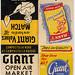 Giant Market Matchbooks, 1950's