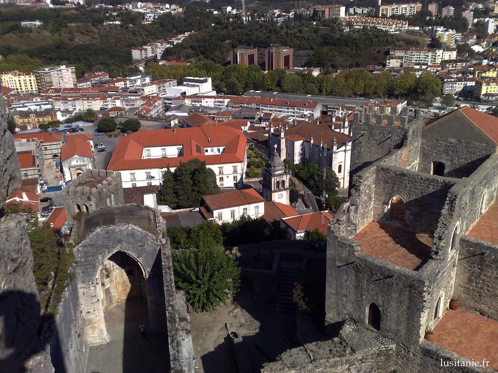Ville de Leiria, vue du Château