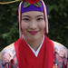 Okinawan girl in traditional costume
