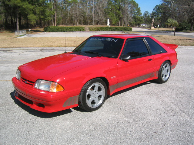 93 Saleen Ford Mustang Supercharged Muscle Car In Bright R Flickr