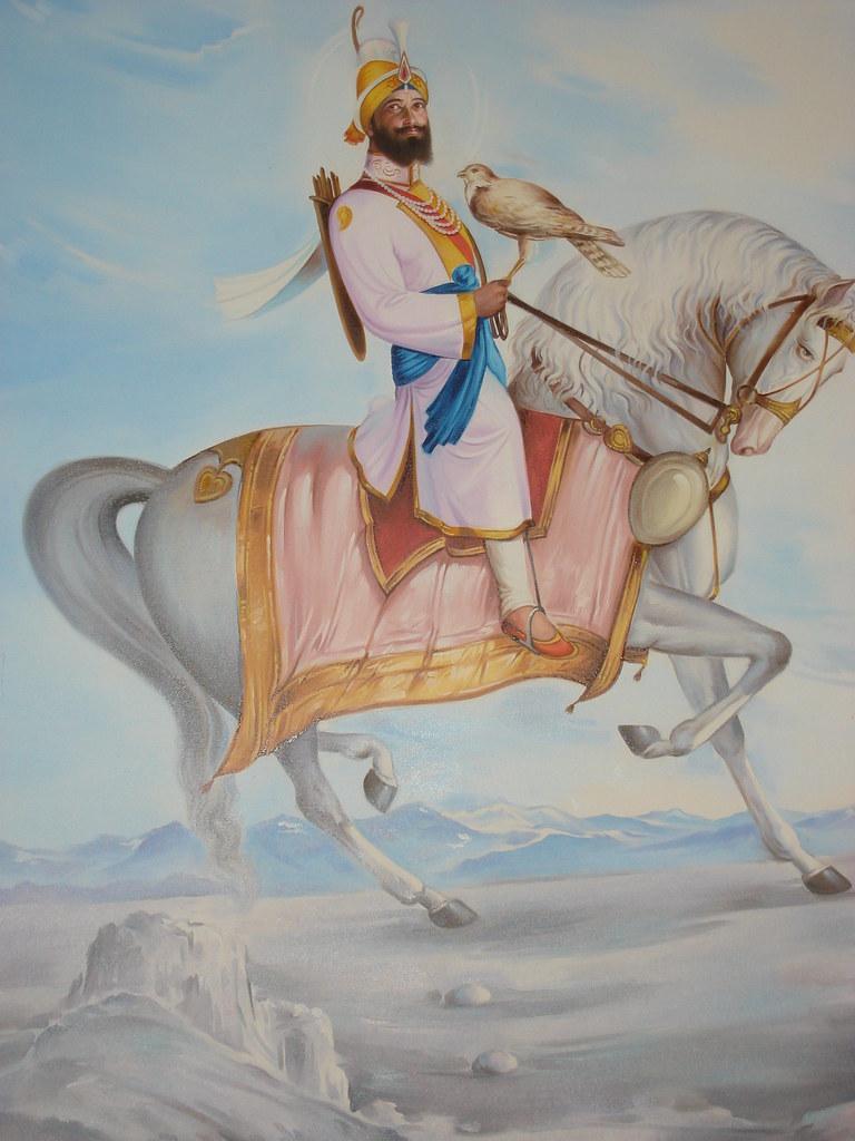 Guru Gobind Singh on Horse Guru Gobind Singh Jee