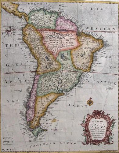 Mapa antiguo de Am rica del Sur mapa antigo da Am rica do Sul old South Ame