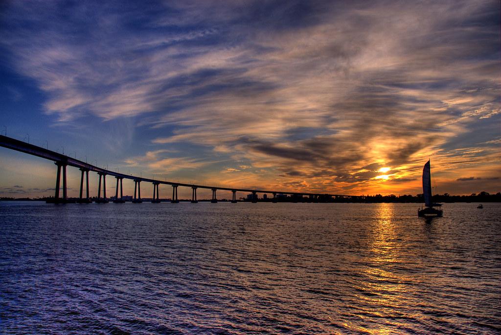 Sunset Coronado Bridge San Diego Bridgepixing The