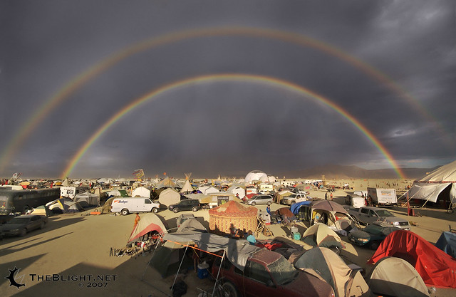 Double Rainbow Post Storm Burning Man 2007 Here S A