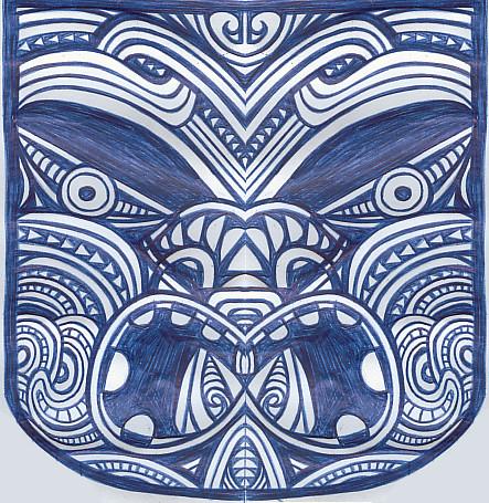 Tiki 2 Maori  I Do Half A Face Sketch On Break And The