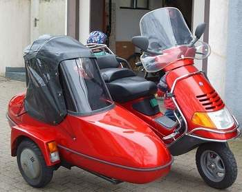 piaggio hexagon 125 sidecar 1series scooterworld flickr. Black Bedroom Furniture Sets. Home Design Ideas