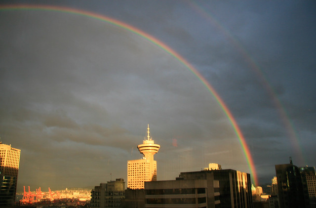 Double-rainbow shot from my office | Flickr - Photo Sharing!