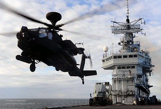 Apache Helicopter Operations on HMS Ark Royal | by Defence Images
