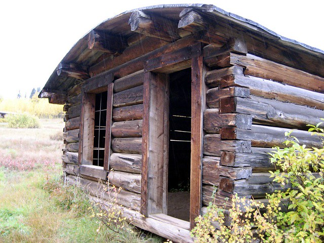 ghost town cabin with arched roof i have never seen