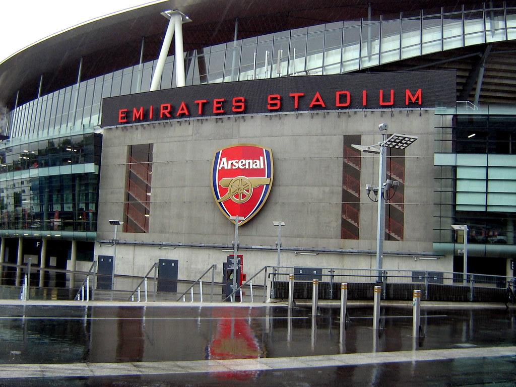 Emirates Stadium Poster Outside The Emirates Stadium