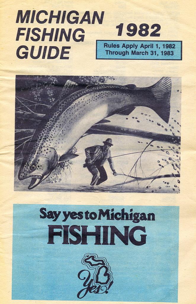 1982 michigan fishing license guide 1982 michigan for Michigan fishing regulations