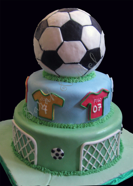 Joaquin S Soccer Themed Cake Perfect Cakes Flickr