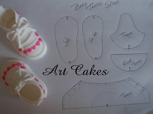 Cake Decorating Baby Shoe Template : Baby Tennis Shoes Template Flickr - Photo Sharing!