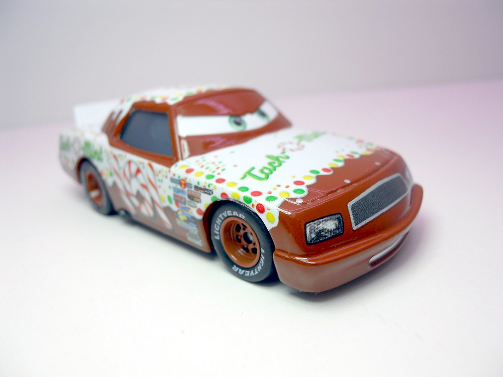 Mint Car: DISNEY CARS KMART COLLECTOR DAY 5 TACH O MINT RACER (3