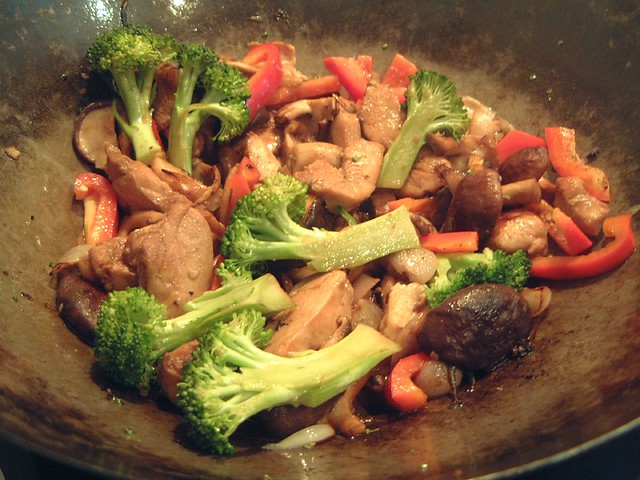 Chicken and Shitake stir fry | Coat the chicken in mixture o ...