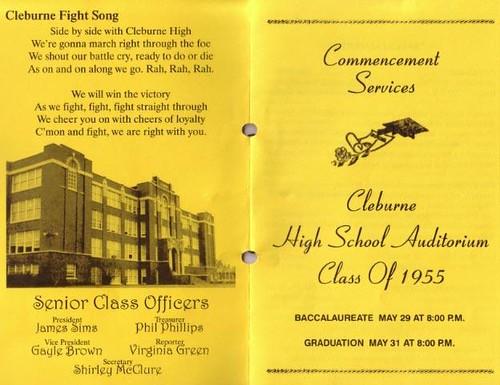 Cleburne High School 50th Reunion Brochure  2