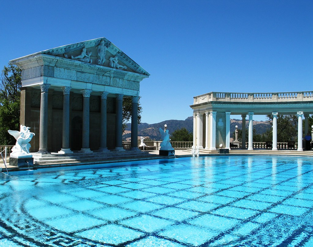 Classical swimming pool Hearst Castle California