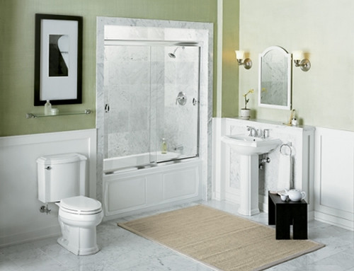 New inspiration a little bathroom inspiration a little for Bathroom decor color schemes